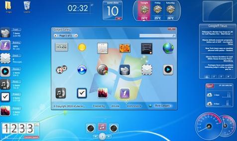 Snow Standalone Gadgets Pack: Cientos de Gadgets para tu personalizar tu escritorio