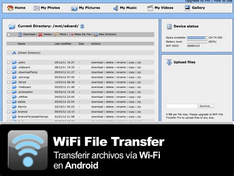 WiFi File Transfer: Copia archivos de tu Android al PC solo con WiFi