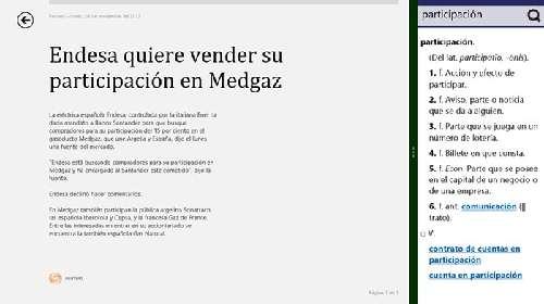 Opten el diccionario de la Real Academia Española en tu Windows 8