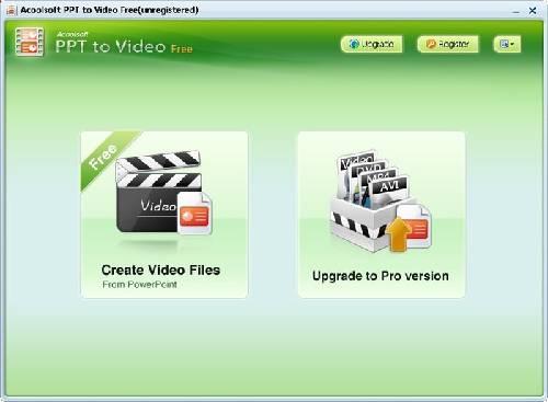 Acoolsoft PPT to Video Free: Convierte presentaciones de PowerPoint en vídeo