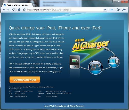 Asus Ai Charger: Carga la batería de tu iPad, iPhone y iPod a través del puerto USB