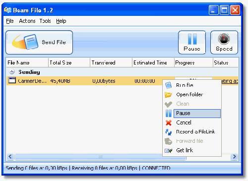 BeamFile: Herramienta que te permite envíar fácilmente ficheros de hasta 5 GB