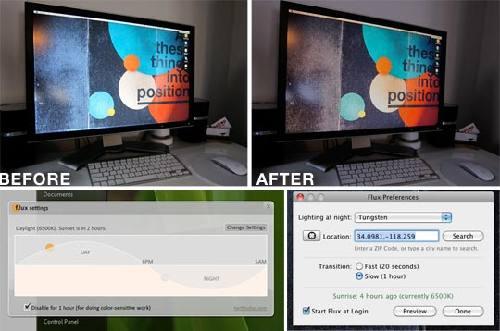 F.lux: Ajuste automático del monitor según la hora del día