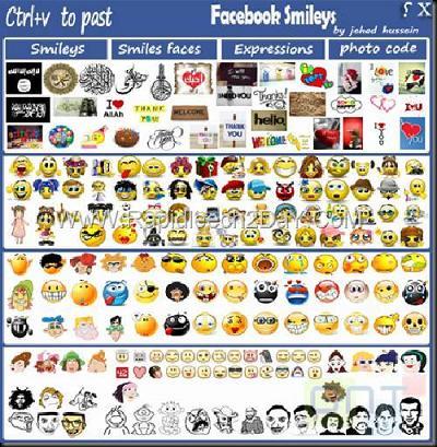 Facebook Chat Emoticons Bar: Miles de emoticones para Facebook