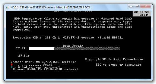 HDD Regenerator: Aregla esos sectores dañados físicamente de tu disco duro