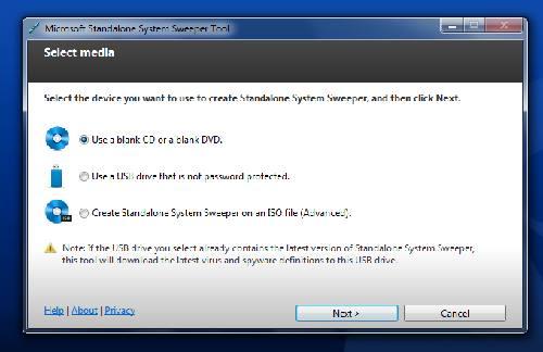 Microsoft Standalone System Sweeper: El antivirus que arranca desde CD y USB