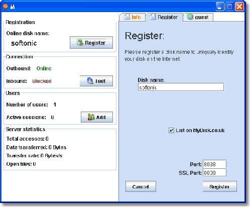 MyDisk: Comparte tu disco duro a través de Internet