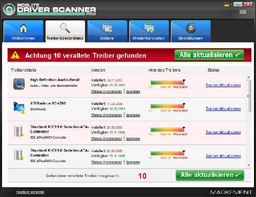 PCSuite Driver Scanner Pro: Actualiza los controladores de su computadora automáticamente