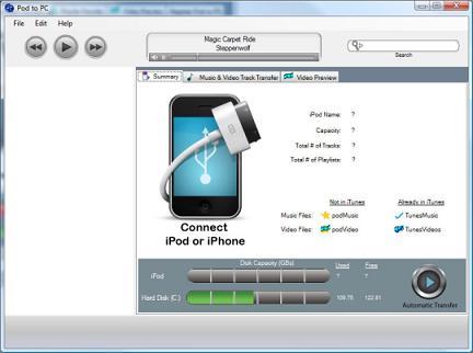 Pod to PC: El mediador perfecto entre iPod y PC