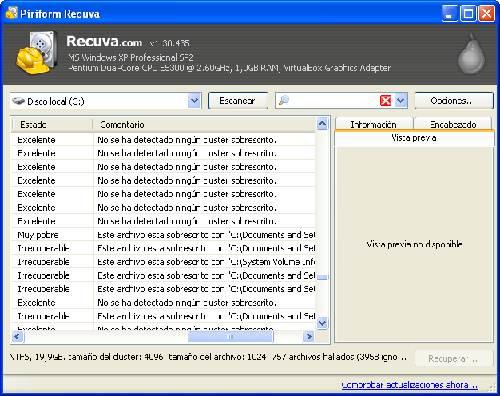 Recuva última versión: Recupera esos archivos borrados sin pensar