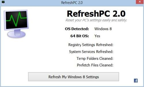 Refresh PC: Refresca el Registro de Windows con un clic