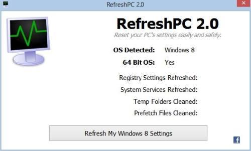 Refresh PC: Refresca el Registro de Windows con un clic