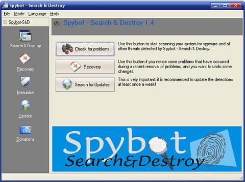 SpyBot Search & Destroy: Nuevo antivirus que detecta y elimina eficazmente todo tipo de spyware