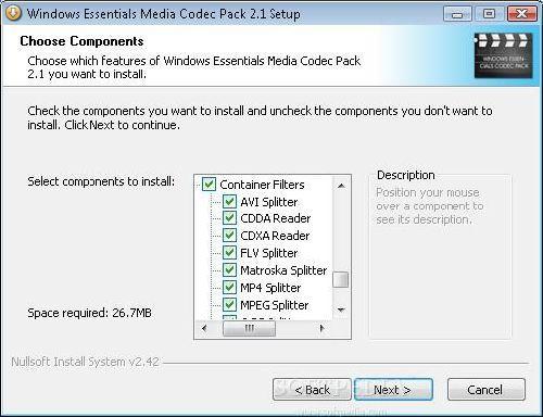 Windows Essentials Codec Pack: Pack completo para ver todos tus videos