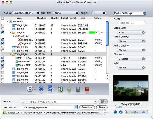 Xilisoft DVD to iPhone Converter: Convierte tu iPhone en un reproductor de DVD
