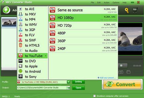 MKV Converter Studio: Herramienta para convertir muchos formatos de video y audio