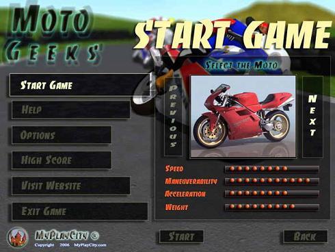 Moto Geeks: Un juego de moto sorprendente para ti