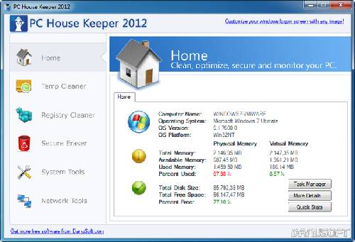 PC House Keeper: Limpieza y mantenimiento completo para Windows