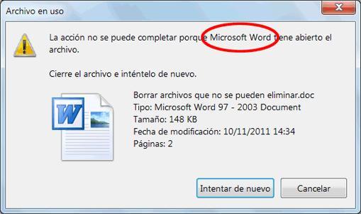 Unlocker: Elimina archivos que no se quieren borrar