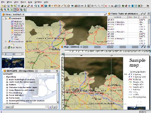 gvSIG: Analizar y gestion datos geográficos