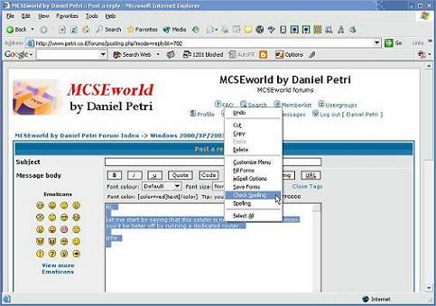 ieSpell: Un corrector ortográfico para el navegador Internet Explorer