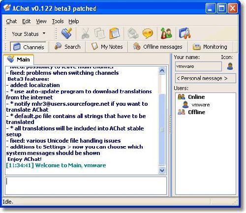 AChat: Comunicación en redes locales bien fácil