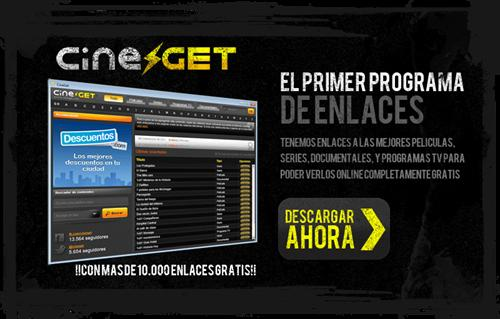 CineGet: Enlaces a series y películas completamente legales y gratis