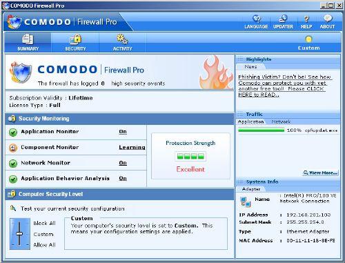 Comodo Firewall: Un ortafuegos para proteger tu conexión