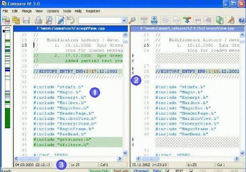 Compare It!: Compara distintas versiones de un archivo y ajusta las diferencias