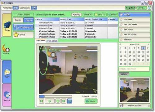 Eyecopia: Asombroso sistema de vigilancia con tu PC y tu cámara web