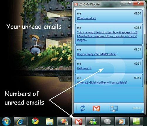 Gmail Notifier Plus: Notificador de mensajes de Gmail para Windows 7