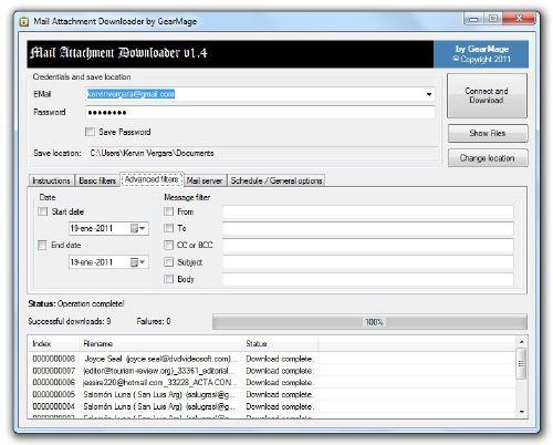 Mail Attachment Downloader: Descarga fácil los adjuntos de tu correos automáticamente