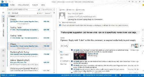 Microsoft Outlook 2013: Baja la versión más reciente al 15 agosto 2013