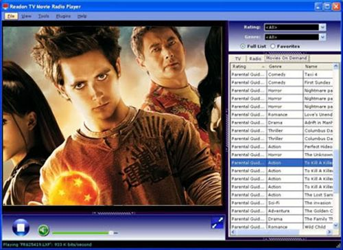 Readon TV Movie Radio Player: Graba y reproduce cientos de canales de TV y radio