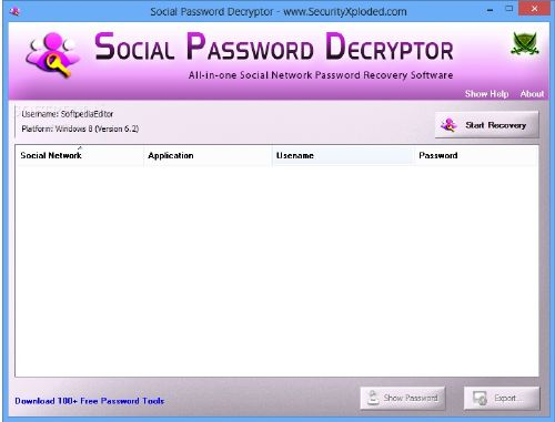 Social Password Decryptor: Recupera claves de Facebook, Twitter, Badoo
