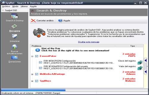 Detecta y elimina eficazmente todo tipo de spyware