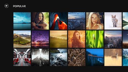 500px para Windows 8 red social inmensa fotógrafos