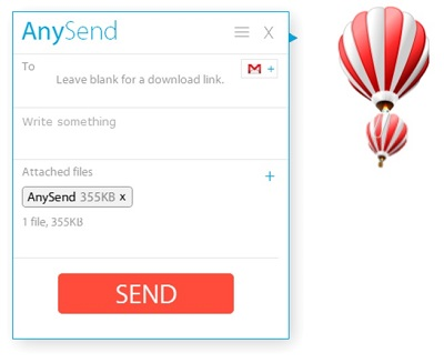 AnySend: Herramienta que comparte archivos hasta 100MB