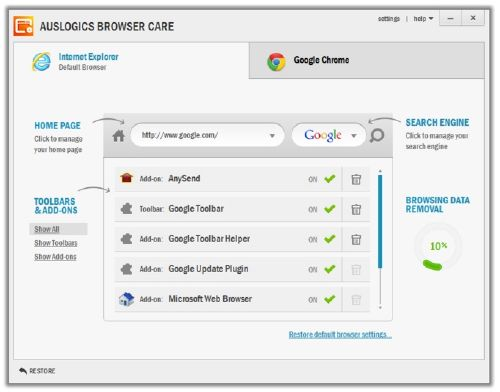 Auslogics Browser Care: Limpia y dale mantenimiento a tus navegadores web