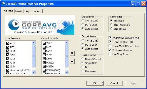CoreAVC: Baja nuenazos codecs para reproducir en alta definición