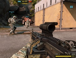 Un juego en linea gratis entre Counter Strike y Call of Duty
