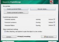 Kaspersky KryptoStorage: Crea carpetas muy seguras y con clave