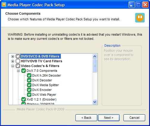 Media Player Codec Pack