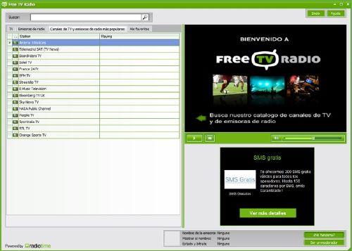 Free TV Radio: Otra herramienta para ver Televisiones y radios