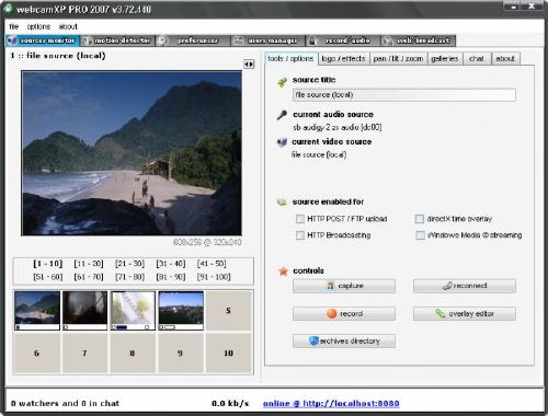 webcamXP gratis windows xp