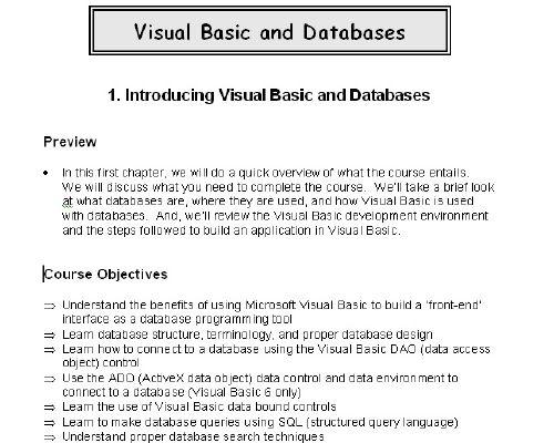 Aprende a trabajar con Visual Basic y a manejar base de datos