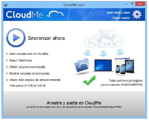 CloudMe Disfruta de 3GB