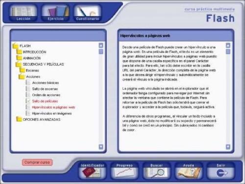 Curso buenazo interactivo de Macromedia Flash