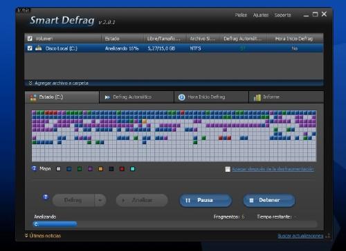 Iobit Smart Defrag: Desfragmenta el disco como un profeisonal
