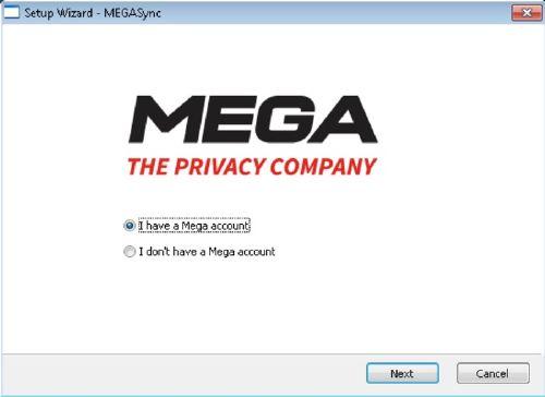 MEGASync El cliente oficial de MEGA para Windows